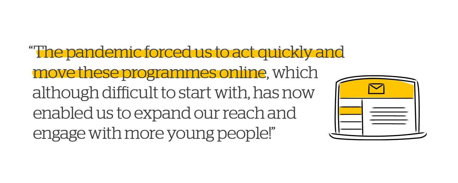 Quote: The pandemic moved these programmes online