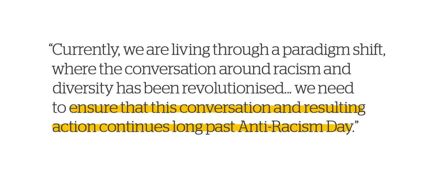 Quote: The conversation around racism and diversity
