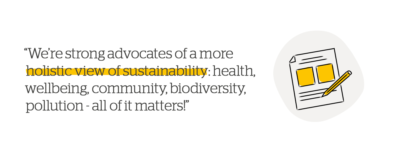 Quote: A more holistic view of sustainability