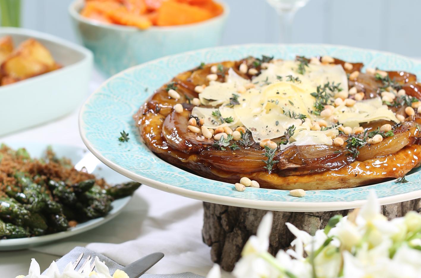Caramelised Shallot & Wyfe of Bath Cheese Tart