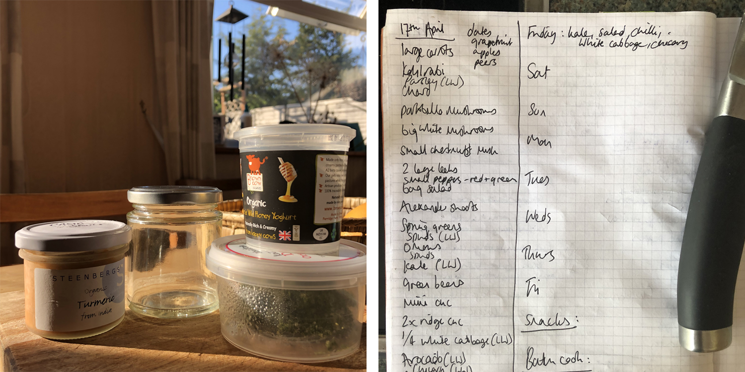 Save little pots for freezing & prepare a weekly list