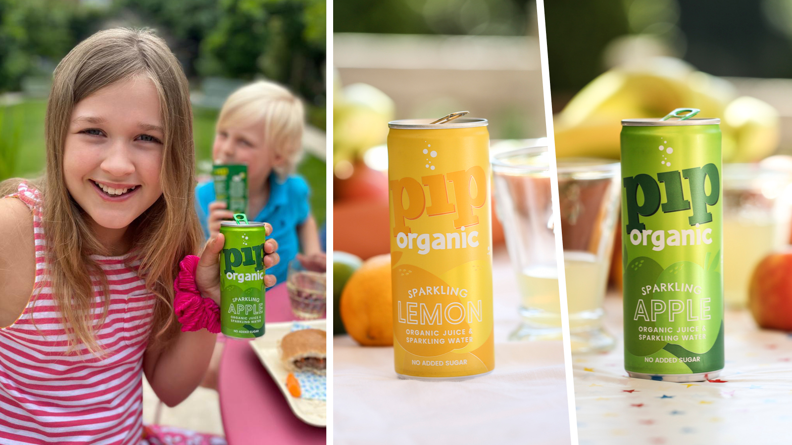 Pip sparkling cans