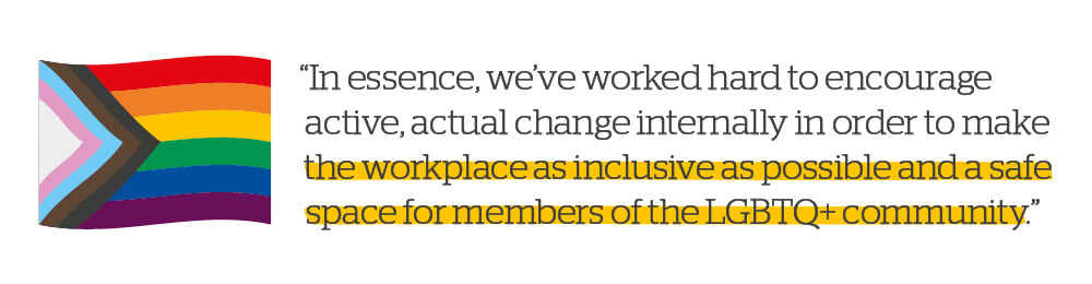 Quote: Make the workspace as inclusive as possible