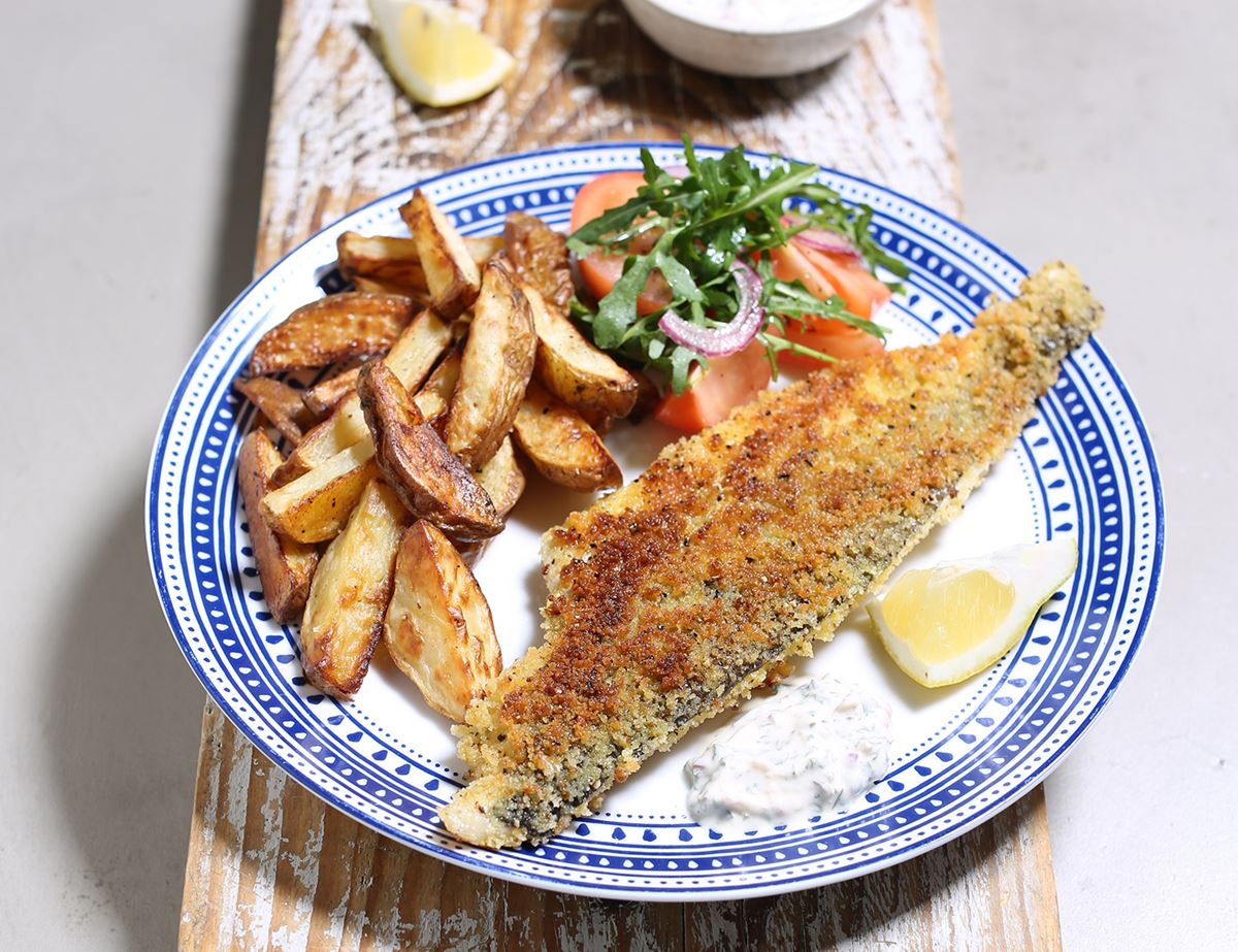 Breaded Haddock with Chunky Chips