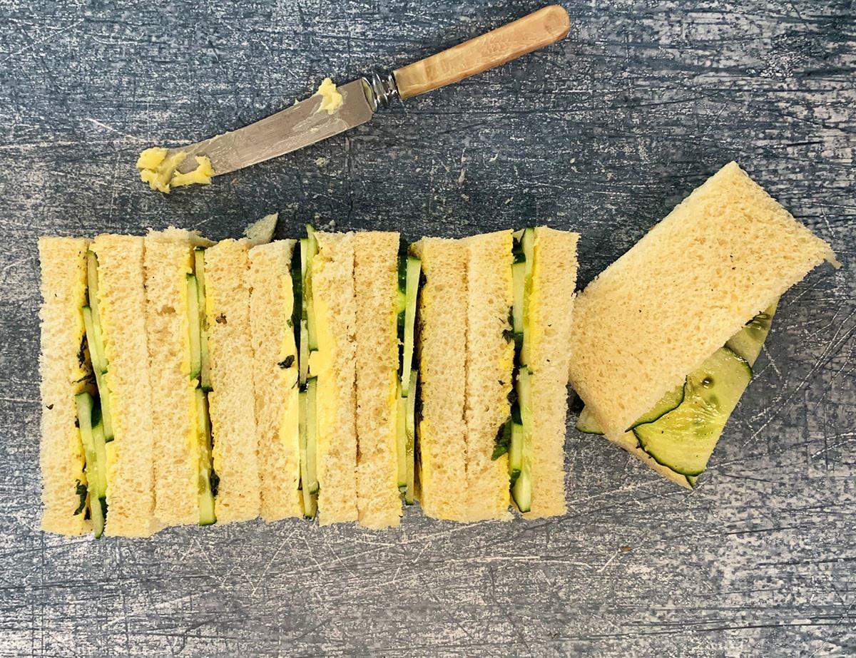 Cucumber & Mint Finger Sandwiches