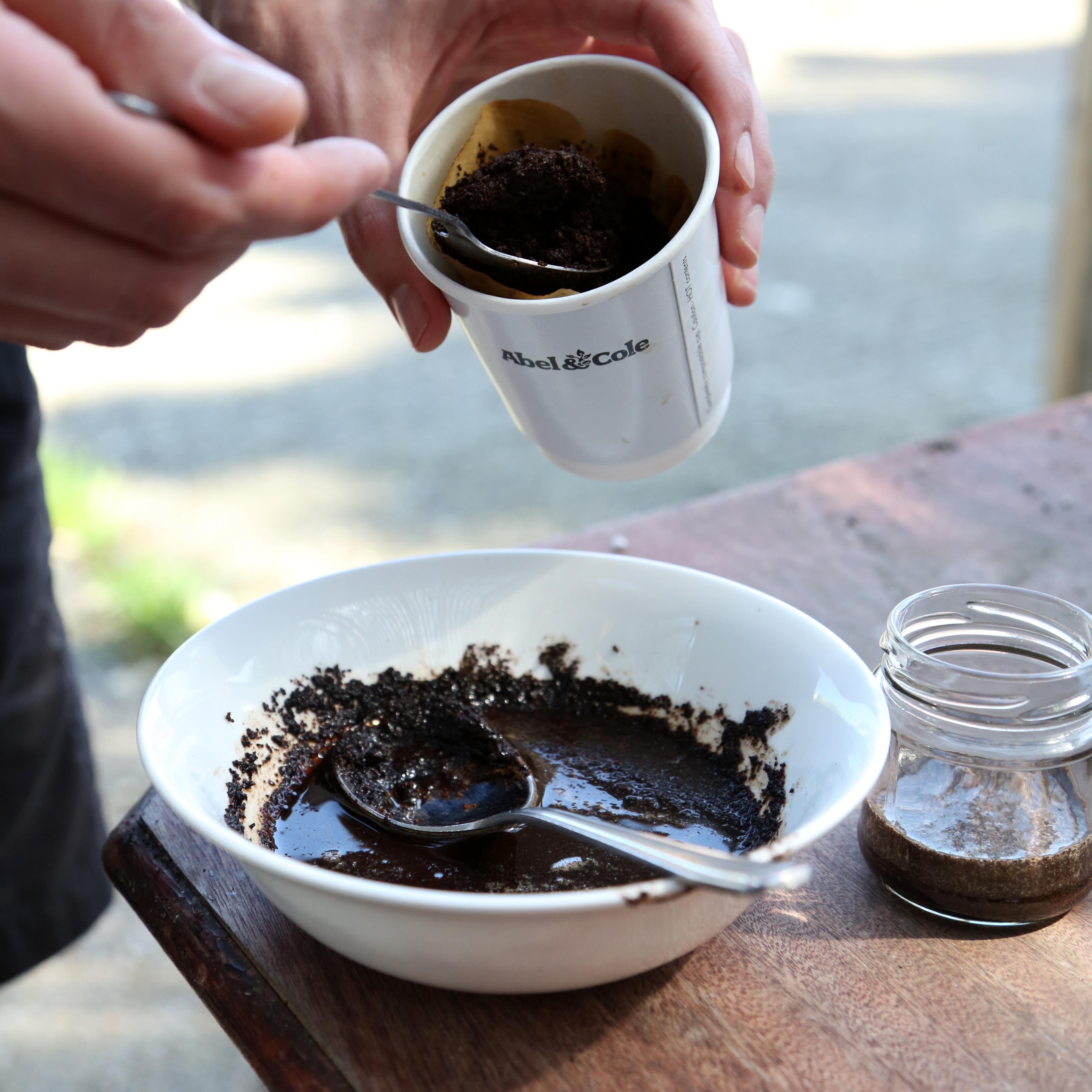 Honey and coffee scrub