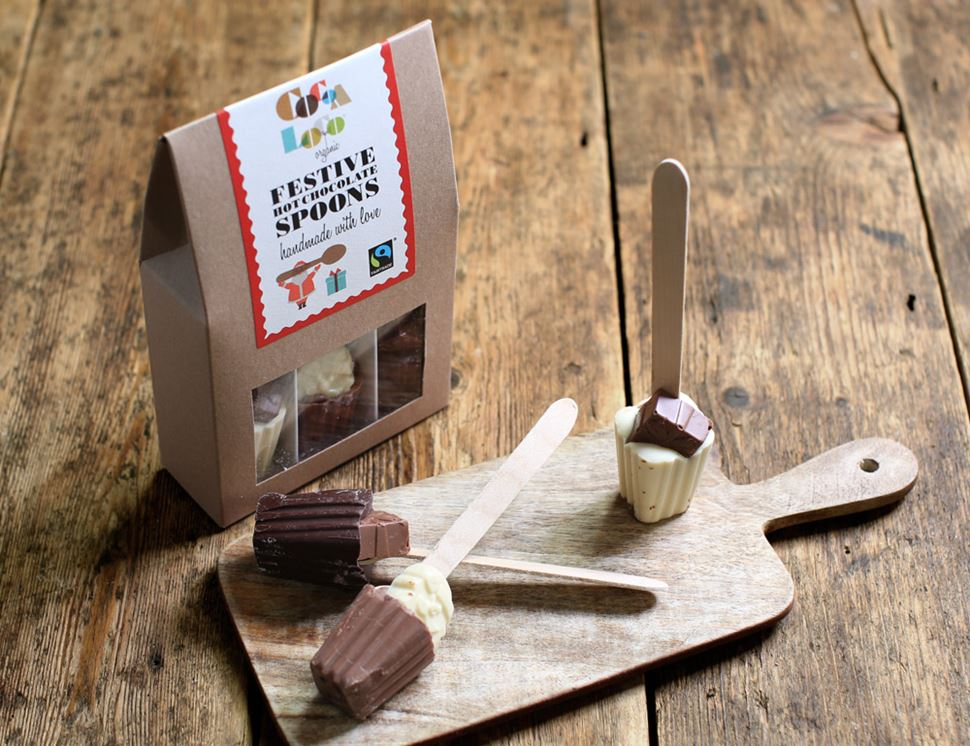 Festive Hot Chocolate Spoons, Cocoa Loco