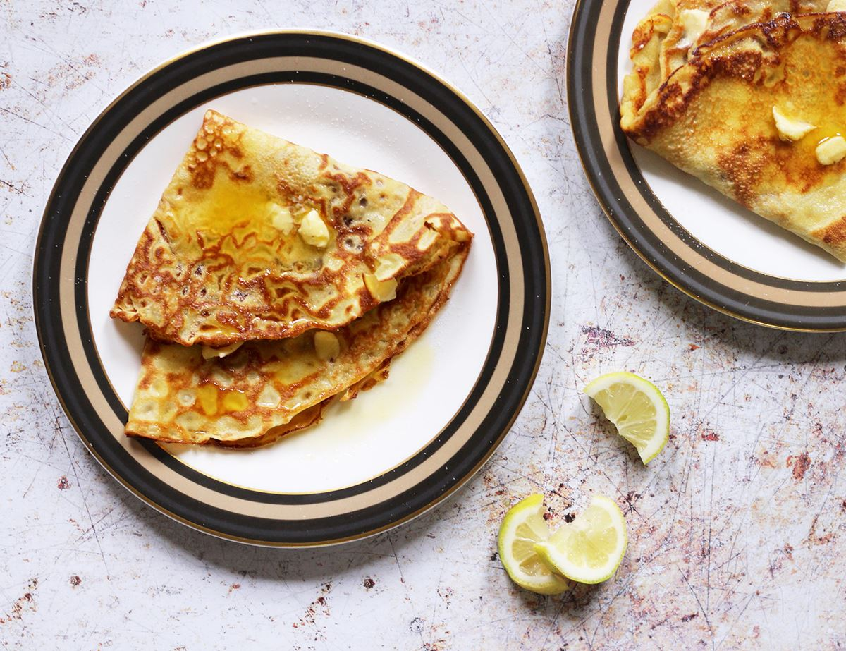 Crepes with Butter and Sugar