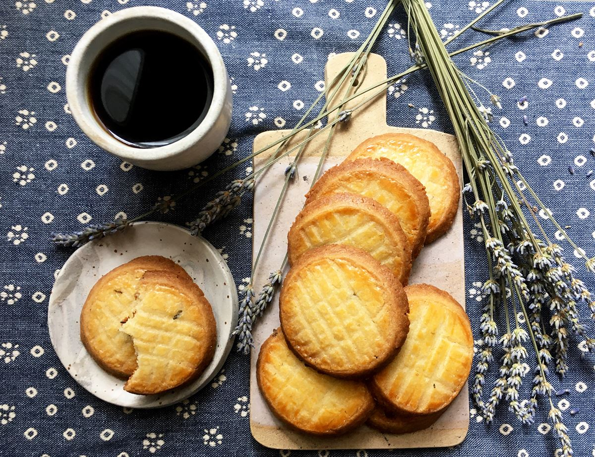 French Lavender Sable Biscuits