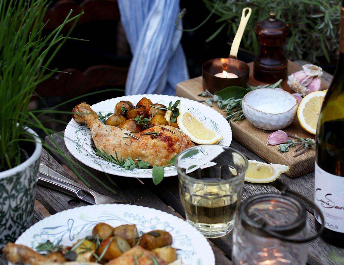 Garlic and Herb Roast Chicken