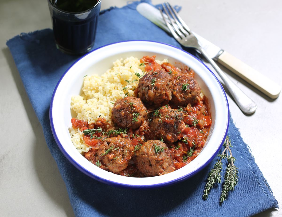 Greek Lamb Meatballs with Bulgar Wheat