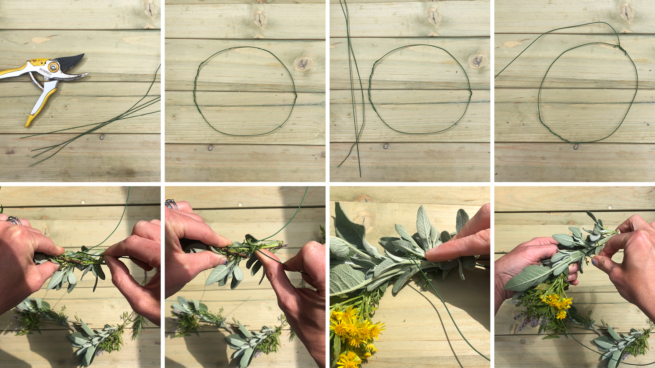 Garland making guide steps