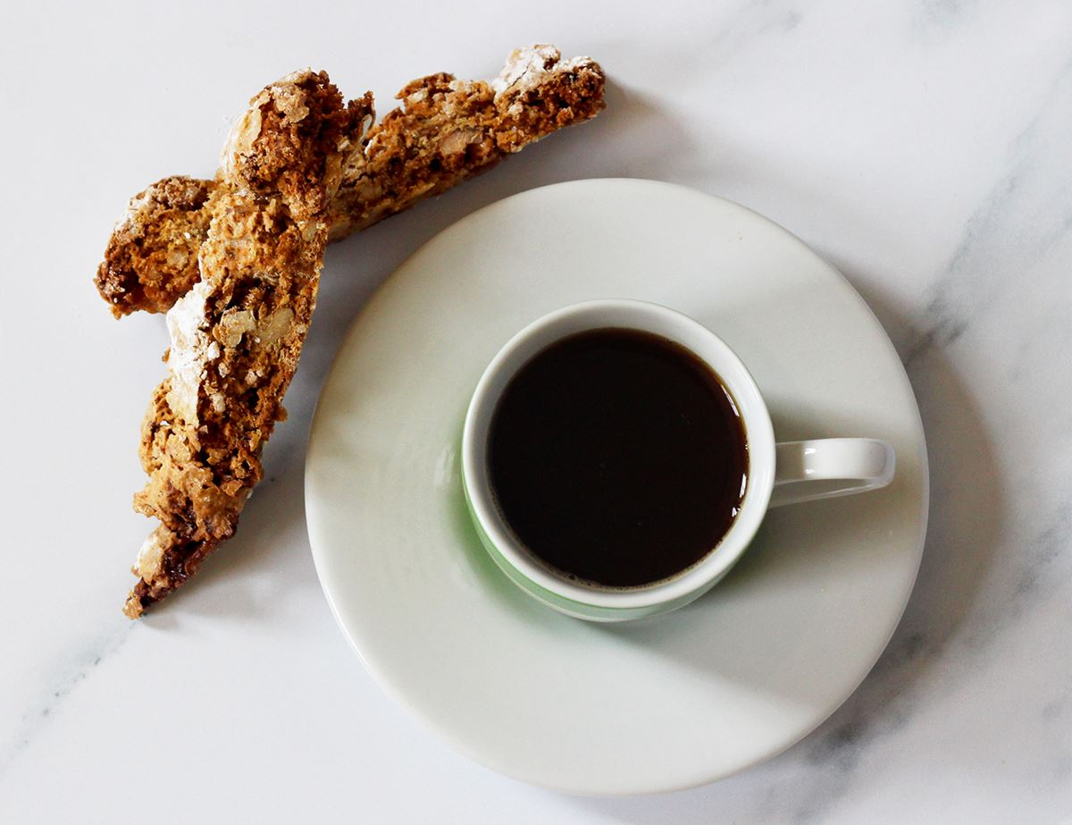 Coffee & Walnut Biscotti