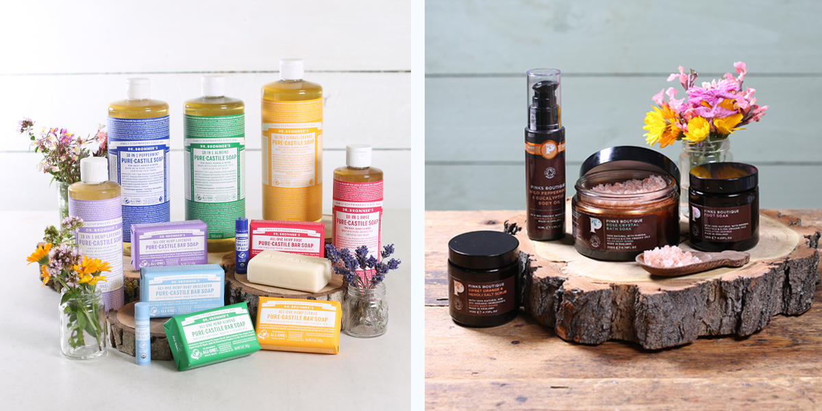 Our Dr. Bronner's & Pinks Boutique ranges