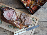 Rather Superbly Spiced Roast Leg of Lamb