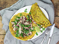 Saigon Crepes with Pickled Mushrooms