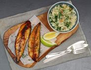 Smoked Mackerel with Chioggia Pilaf