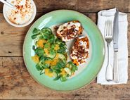 Sweet Potato Jackets with Spiced Yogurt & Crispy Shallots