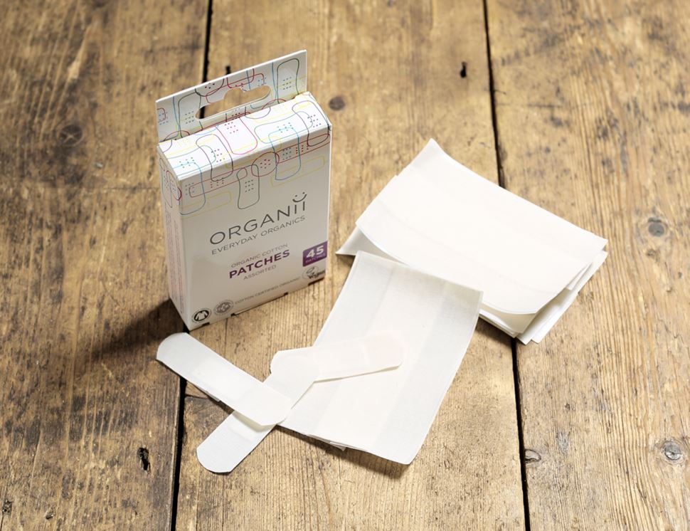 organic cotton plasters out of pack organii