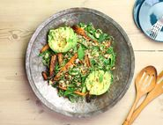 Egyptian Roast Carrot & Avocado Salad