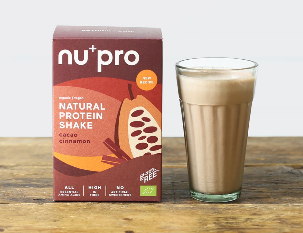 organic cacao cinnamon natural protein shake nu pro