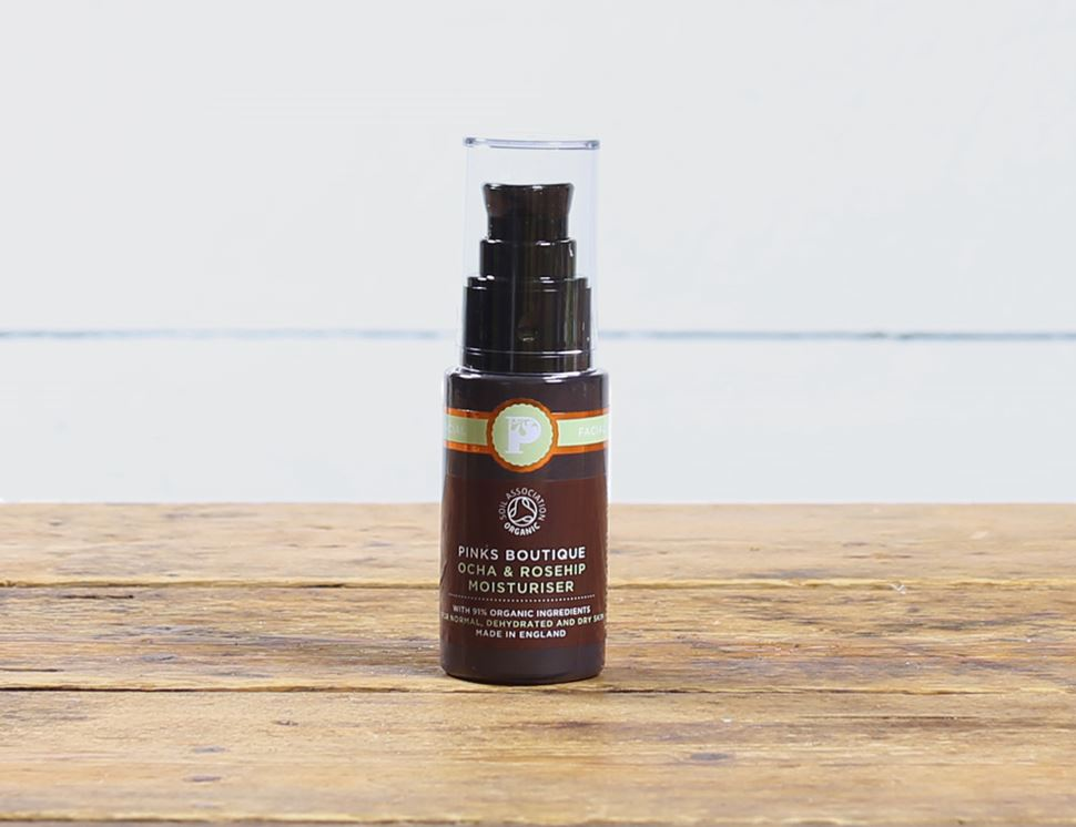 organic ocha and rosehip moisturiser pinks boutique