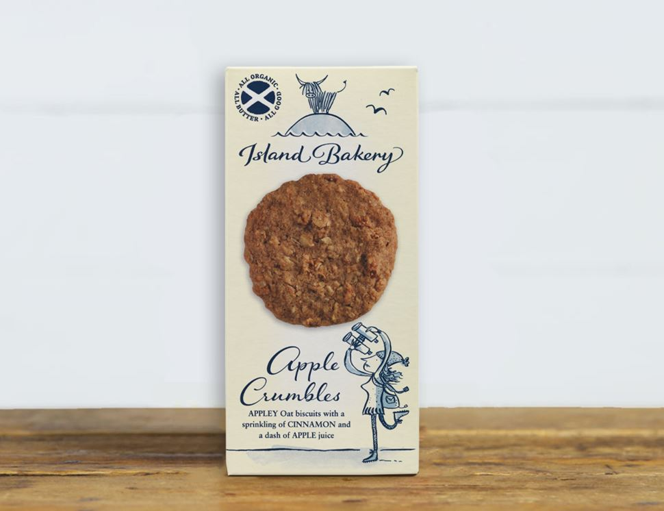 Apple Crumble Biscuits, Organic, Island Bakery (125g)