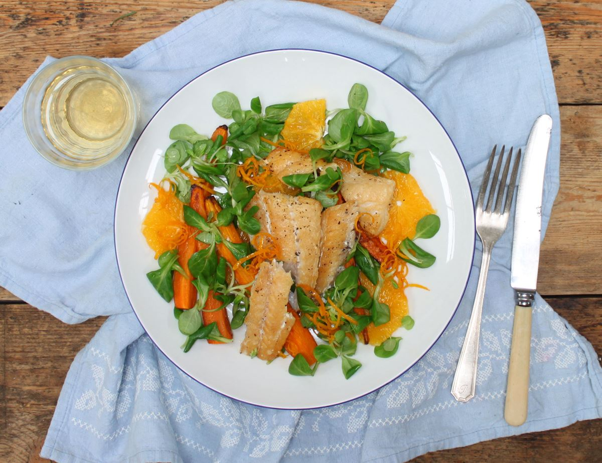 Smoked Haddock with Orange & Carrot Salad