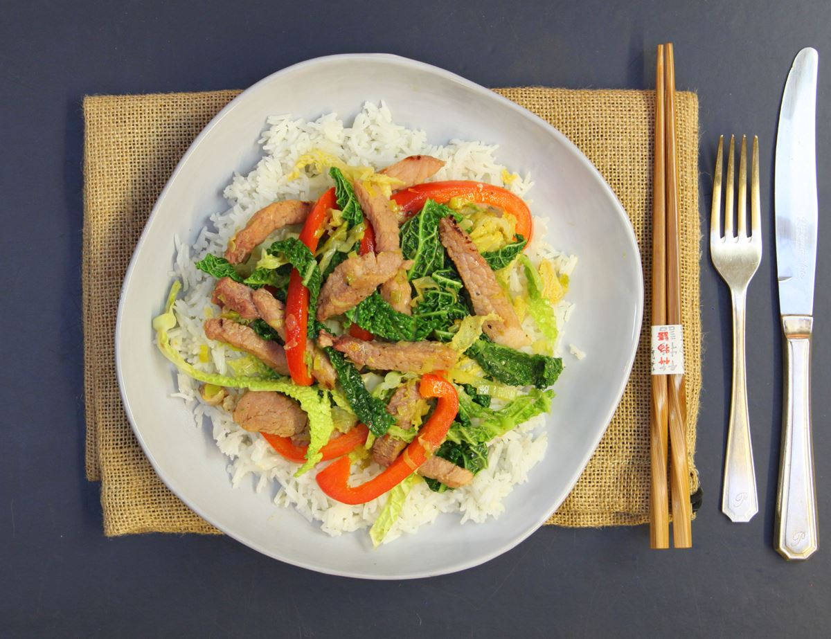 Sticky Gammon Stir-Fry