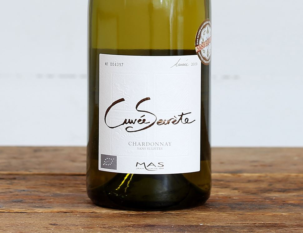 Paul Mas Cuvée Secrete Chardonnay, No Added Sulphur, Organic (750ml)