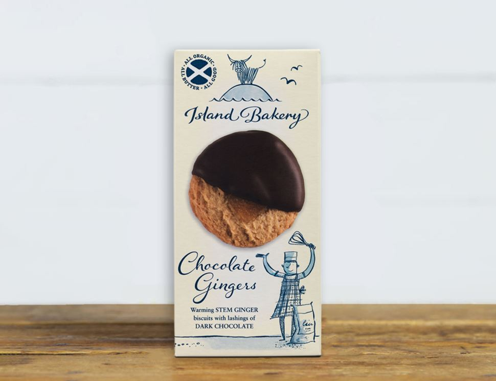Chocolate Gingers, Organic, Island Bakery (133g)