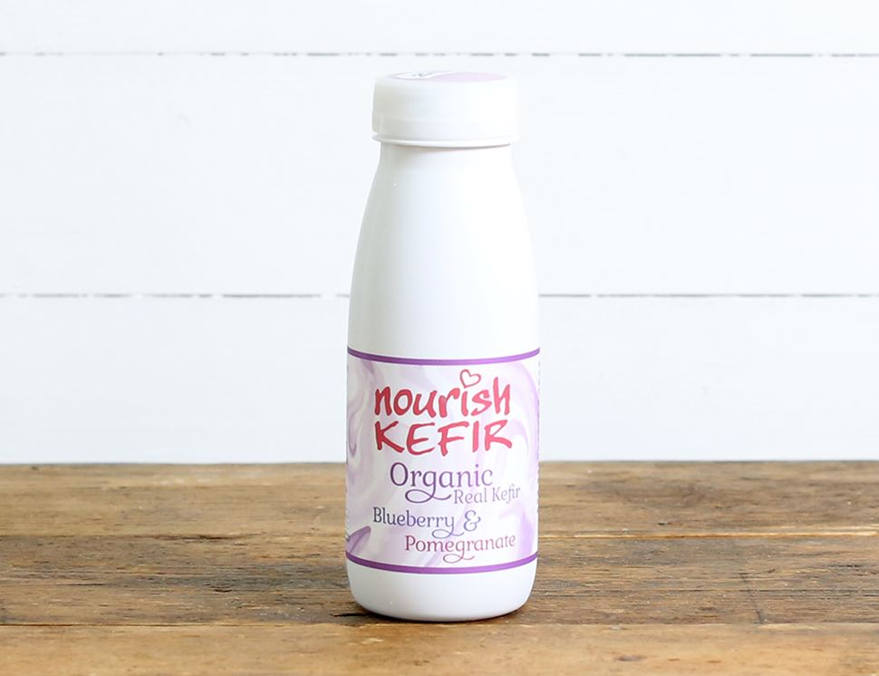 organic blueberry and pomegranate kefir nourish