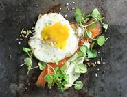 Fried Egg with Smoked Salmon & Watercress