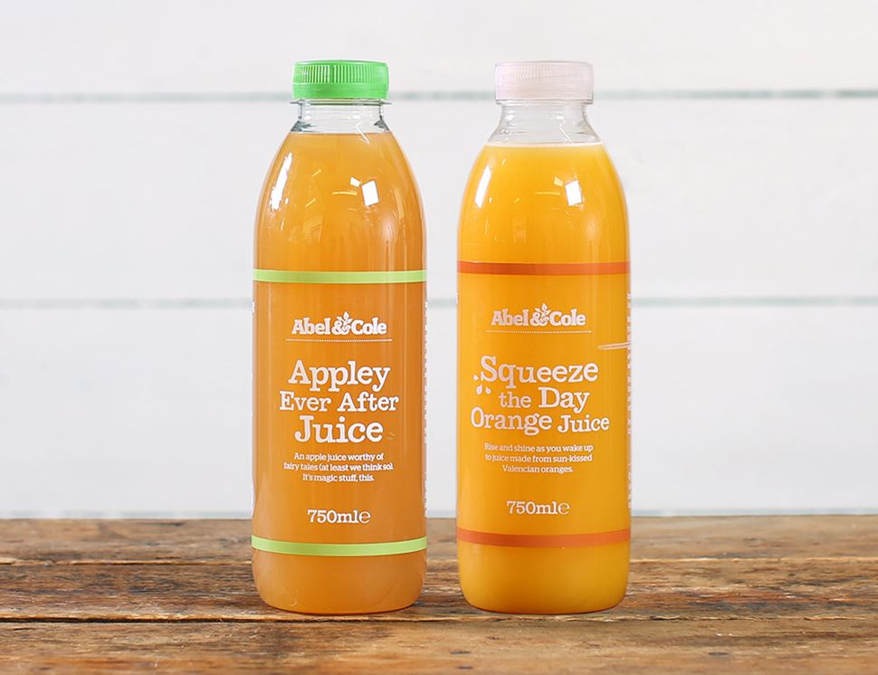 organic apple and orange juice abel and cole