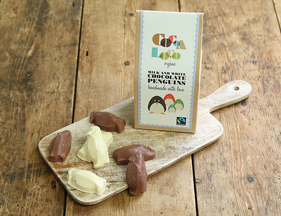 organic milk white chocolate pengiuns
