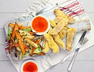 Chicken Strips & Rainbow Chips