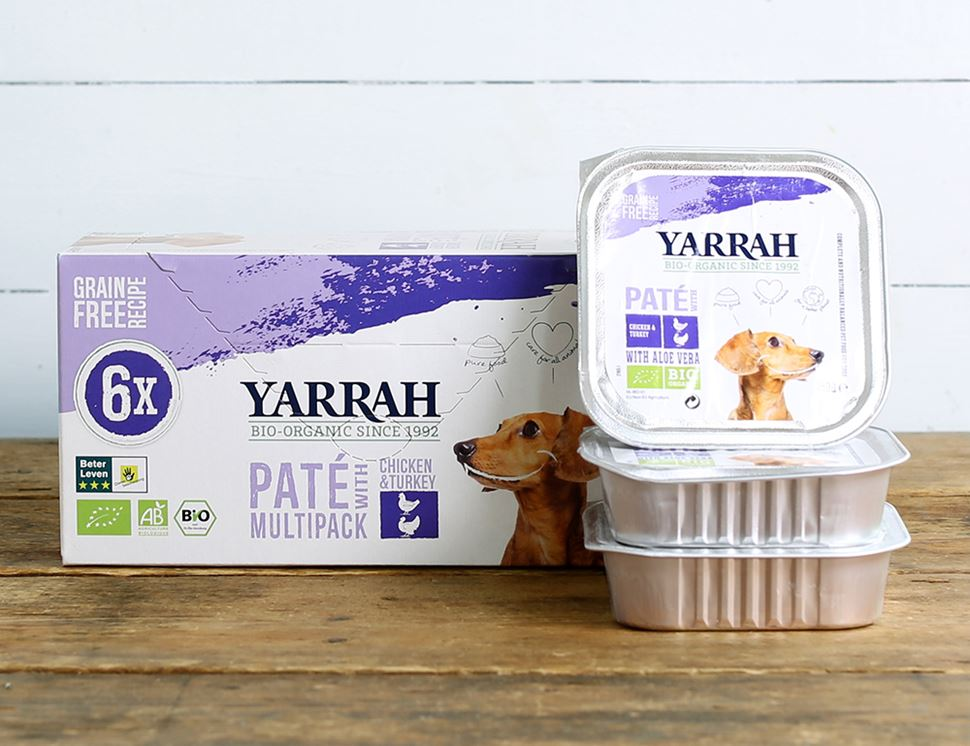 organic chicken and turkey pate for dogs yarrah