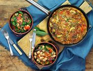 Bacon & Sage Frittata with a Warm Cannellini Bean Salad