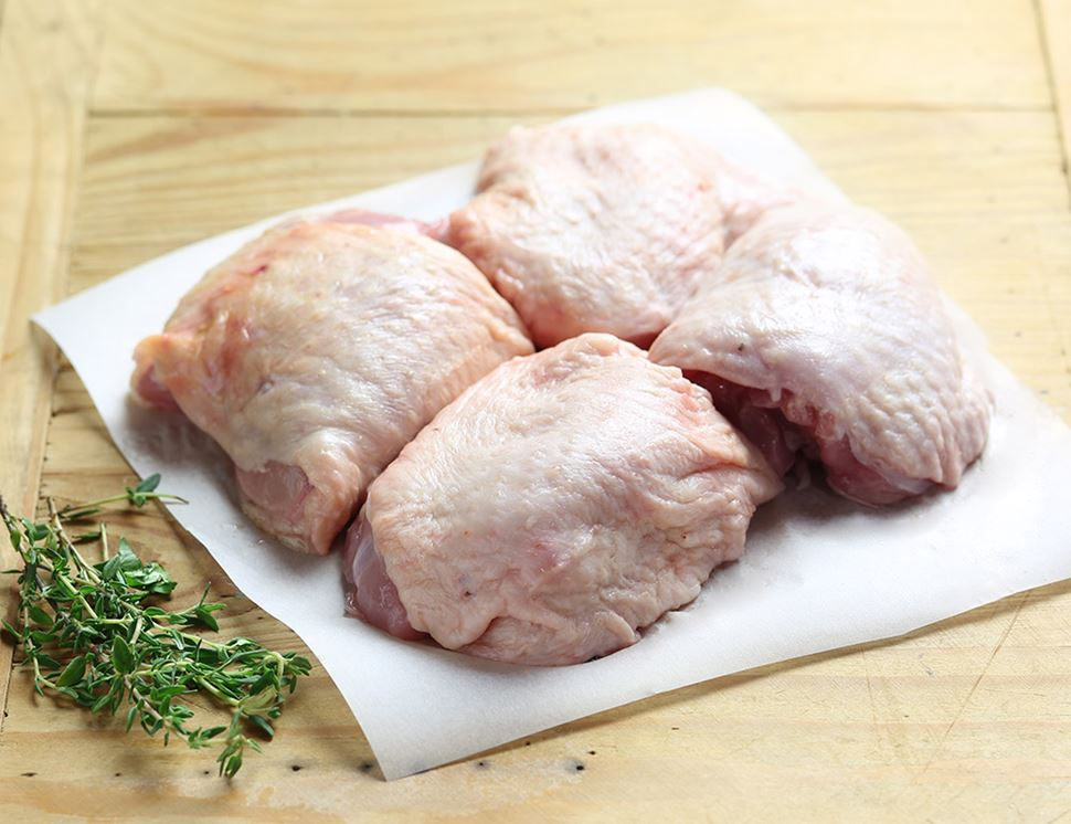 Chicken Thighs, Boneless, Organic (550g avg, pack of 4)