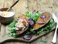Harissa Roasted Aubergines with Smashed Tomato Sauce
