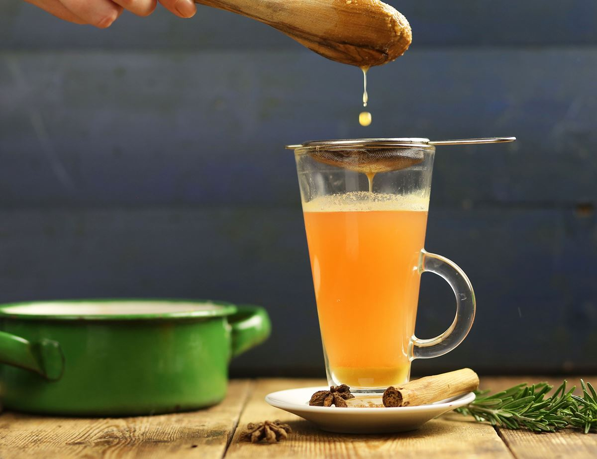 Mulled Apple with Rosemary Juice