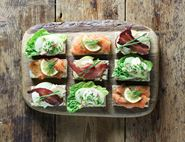 Hot Dressed Smoked Salmon Open Sandwiches