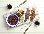Scandi Venison with Quick Pickled Cabbage