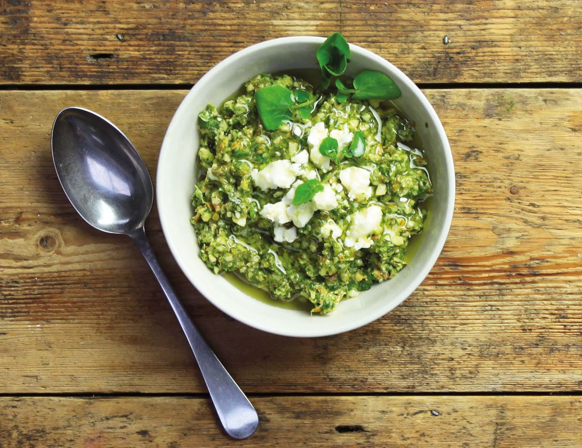 Watercress, Almond & Lime Pesto