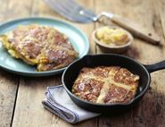 Hot Cross Eggy Bread with Citrus Butter