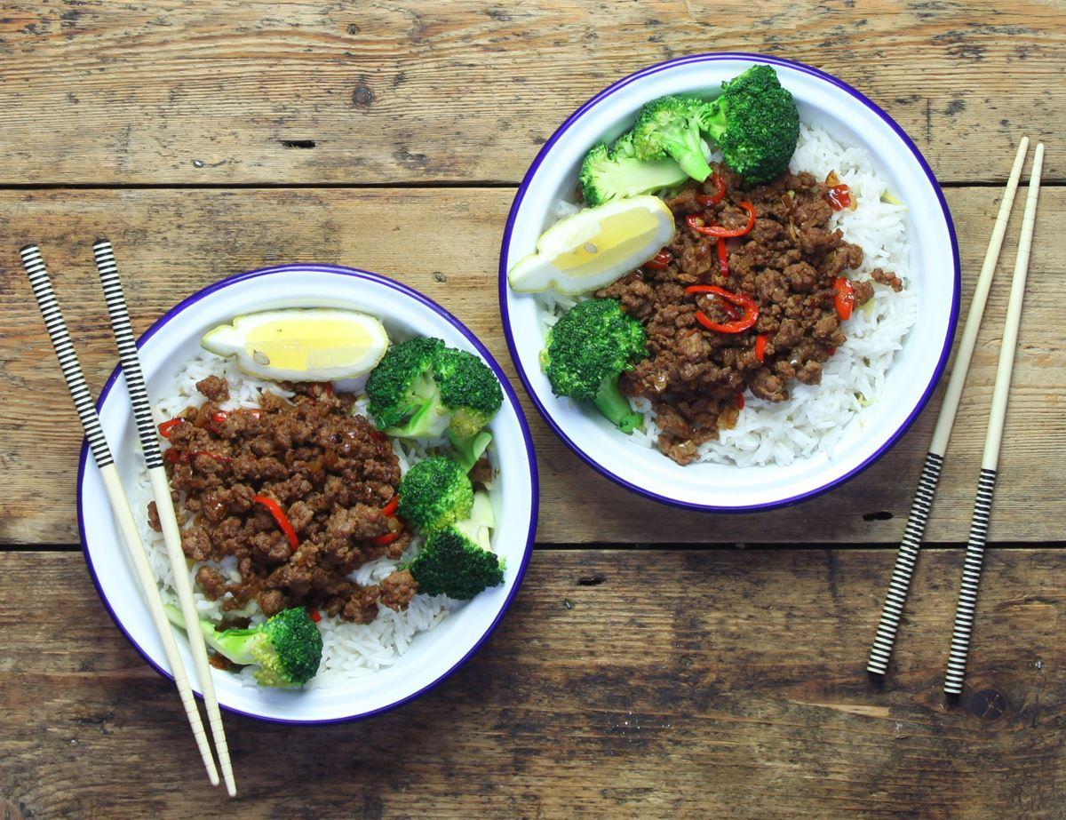 Thai Fried Beef with Sticky Coconut Rice