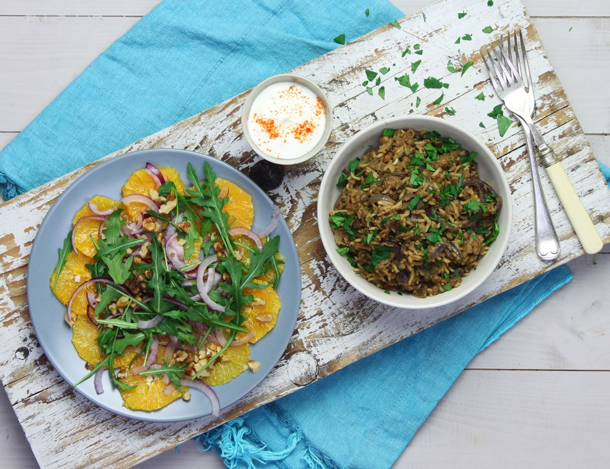 Lebanese Lentils & Rice with Caramelised Onions