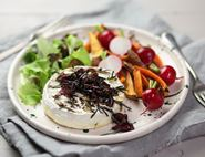 Garlic Studded Brie Fondue with Roast Veg Dunkers