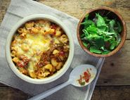 Spanish Mac & Cheese with Crispy Lardons
