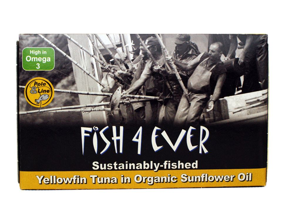 Tuna Fish in Sunflower Oil, Fish 4 Ever (120g)